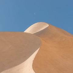 Moonset over the Dune (Vesa Pihanurmi) Tags: unescoworldheritagesite lapedrera casamil antonigaud modernism artnouveau architecture chimney symbolic dune landscape moon sky shapes forms barcelona spain curves