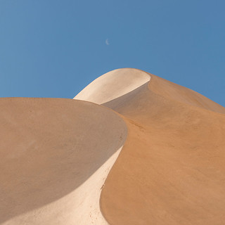 Moonset over the Dune