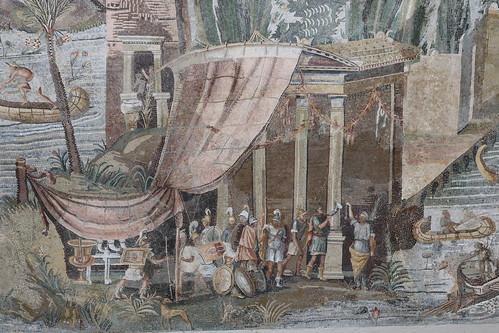 "Palestrina (Praeneste) - the ""Nilotic"" mosaic 2nd century BC."
