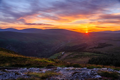 Evenfall on the Mountains (CAN Photo) Tags: tranquil landscape intothesun ireland nature hillside wicklowmountains hill orange red exploration adventure warm gold travel serene scenic wicklow travelandtourism sunlight traveldestination sunset warmcolours goldenhour cowicklow
