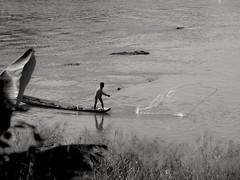 Le pcheur.. The fischerman... (alainpere407) Tags: alainpere laos triptolaos mekong fisherman pcheur luangprabang