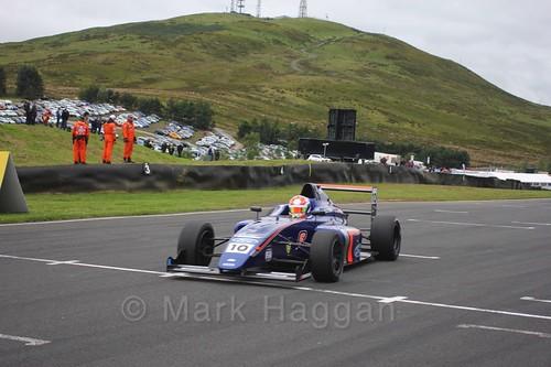 Petru Florescu in British Formula Four race 2 during the BTCC Knockhill Weekend 2016