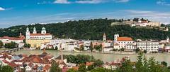 Passau, Panorama (bayernphoto) Tags: passau bayern niederbayern donau inn ilz dom 3 drei fluesse river cruise flusskreuzfahrt katholisch ausblick panorama schiff heilige bunt farbig altstadt stadtkern details bavaria danube blauer himmel sonnig sommer sunny