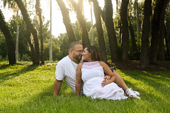 Soon to be parents of baby Catalella (PriscillaDPhoto) Tags: maternity couple parents sunshine floutdoors sunlight whiteoutfits trees nature canonphotography 50mmlens portraitshoot