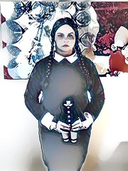 dreamscope wednesday (timp37) Tags: nat nathalie dreamscope illinois chicago august 2016 conlife cosplay hyatt regency wizard world comic con rosemont wednesday addams family