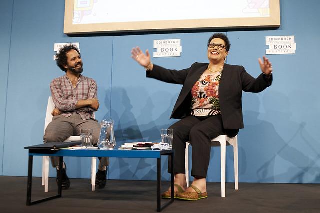 Zaffar Kunial with Jackie Kay