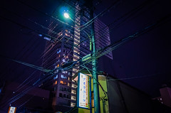 Day 256/366 : Wired (hidesax) Tags: 256366 wired night street wires poles highrise apartment building dark light ageo saitama japan hidesax leica x vario 366project2016 366project 365project