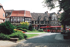 Germany.  June 12th.-20th. 1999 (Cynthia of Harborough) Tags: 1999 architecture buses cobbles squares transport