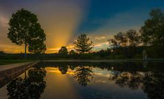 Mirrored Silhouettes - 2016-08-21_08 (Paul and Nalva) Tags: garrardlandingpark rokinon12mm reflection nx500 samsungnx500 sunrise sunset flp