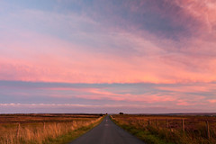 Nought Moor (matrobinsonphoto) Tags: nidderdale countryside yorkshire dales landscape north outdoors nought moor high crag guise cliff sunset sunlight sun light pink orange afterglow blue hour road moorland heather sky skies big clouds cloudscape