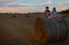 IMG_9951 (ct_purley) Tags: hay bales isle wight canon 7d fields sunny children brother sister