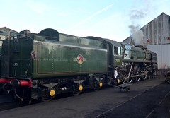 Great Central Railway Loughborough Leicestershire 27th August 2016 (loose_grip_99) Tags: greatcentral railway railroad rail gcr locomotive leicestershire steam train engine britishrailways standard pacific 462 britannia 70013 olivercromwell preservation transportation gassteam uksteam trains railways august 2016