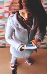 Lemme check that for you! (FreeRangeBarbie) Tags: barbie madetomove teresa hipsterbarbie ipad diy