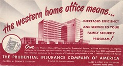 Vintage Postcard - Western Home Office for Prudential - Los Angeles, CA (hmdavid) Tags: vintage postcard prudential square losangeles california wurdeman becket sagaftra illustration western home office 1948 midcentury modern architecture design commercial international miraclemile southerncalifornia