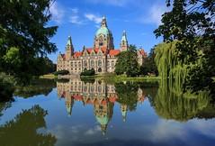 Rathaus der Stadt Hannover (ulrichcziollek) Tags: niedersachsen hannover rathaus maschsee spiegelung