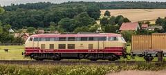 3200_2016_07_16_Haunetal_Neukirchen_DB_218_105_mit_Schweerbau_SBAU_9427_002_RG_48_II_Schienenschleifer_DGV_91542_Be (ruhrpott.sprinter) Tags: ruhrpott sprinter deutschland germany nrw ruhrgebiet gelsenkirchen lokomotive locomotives eisenbahn railroad zug train rail reisezug passenger gter cargo freight fret diesel ellok hessen haunetal boxxboxxpress db egp ell hhla hsl hvle lbllocon metrans mrcedispolokdispo bb railpoolrpool rbh rhc schweerbau sbbc txltxlogistik wienerlokalbahnencargo 143 145 152 182 185 193 218 270 428 650 1264 1266 421 es64u2 es64f4 greencargo ice r5 outdoor logo natur sonnenaufgang graffiti rinder