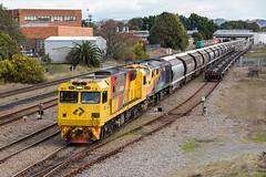"2016-08-26 Aurizon 3215-42107 Mayfield 5456 (Dean ""O305"" Jones) Tags: mayfieldeast newsouthwales australia au aurizon grain train 5456 3215 2815 42107 port waratah nsw hunter valley"