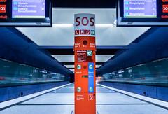 Blue Cool (*Capture the Moment*) Tags: 2016 bahnsteig farbdominanz fotowalk gern munich mnchen notrufsule platform sos sostelephone sonya7ii subway ubahn blau blue red rot