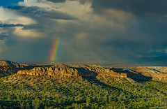 Rainbow Mesa (APGougePhotography) Tags: rain new mexico northern los alamos mesa rock clouds sky rainbow