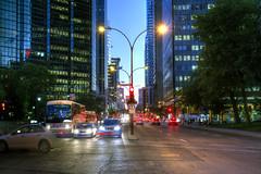 Ren Lvesque street, Montreal, Quebec (CloudPhotoz) Tags: ren lvesque street rue montral montreal quebec qubec city ville downtown centre night soir nuit hdr