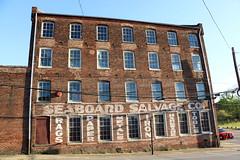Seaboard Salvage (jschumacher) Tags: virginia petersburg petersburgvirginia seaboardsalvage ghostsign building brickbuilding