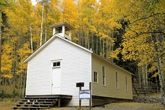 1882 School House (Patricia Henschen) Tags: chaffeecounty sawatch range mountains mountain aspen autumn fall color gold silver mine mines mining ruins ghosttown stelmo mtprinceton chalkcreek nathrop colorado canyon sanisabelnationalforest schoolhouse leafpeeping fallcolor