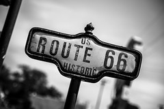 Day 187-365 66 (giuliomeinardi) Tags: route 66 usa arizona mother historic california cars seligman insegna storica moto auto stati uniti canon 24105 bw lightroom oatman