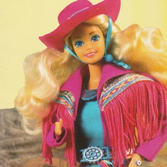 1989 Western Fun Barbie Doll #9932 (The Barbie Room) Tags: 1980 80s 1989 western fun west wild cowboy cowgirl barbie doll pink blonde blond colouring coloring book trip santafe 9932