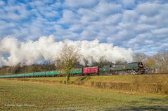 Winter's morning Boat Train (Nimbus20) Tags: bulleid westcountry light pacific hampshire southern cunard oriana boat train steam watercressline england uk britain southengland waterloo southampton midhantsrailway preservation