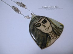 Life & Death (LynzCraftz) Tags: polymerclay resin swellegant steampunk handmade oneofakind jewelry necklace pendant