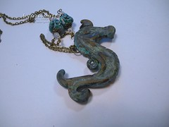 Sea Horse Antiquities II (LynzCraftz) Tags: polymerclay resin swellegant steampunk handmade oneofakind jewelry necklace pendant