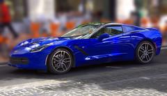 The Blue Vette (swong95765) Tags: corvette car machine beauty fast sportscar expensive blue sleek vehicle man bokeh tire road