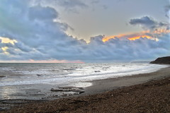 Isle of Wight sunset HDR (Prosthetic_Head) Tags: sunset sea sky beach night clouds coast waves isleofwight hdr highdynamicrange wight