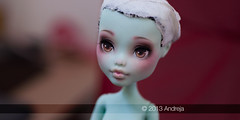 Frankie repaint (***Andreja***) Tags: monster high ooak makeup frankie dreams custom repaint andreja faceup nicolles