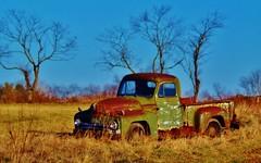Retired (greg kear2012) Tags: trees history abandoned field truck landscape junk antique