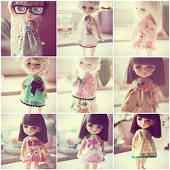 for the precious darlings... (alva / mareike) Tags: alva shop doll dolls dress handmade sewing bjd blythe etsy abjd lati princessealva