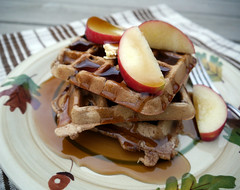 2013-04-07 - BGV Spiced Apple Waffles - 0002 (smiteme) Tags: food vegan vegetarian apples waffles veganism herbivore vegetarianism meatless danshannon meatfree whatveganseat annieshannon bettygoesvegan