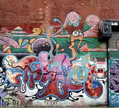 Ghost (neppanen) Tags: usa streetart newyork brooklyn america graffiti ghost greenpoint ris discounterintelligence sampen