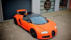 Wrapped Orange Bugatti Veyron in Netherlands (SSsupersports) Tags: netherlands wrap bugatti veyron