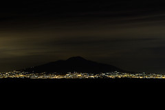 Mount Vesuvius at night