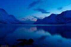 Blue fjord (GeirInge) Tags: blue norway night bluehour nordnorge troms northnorway bltime ersfjordbotn ersfjorden