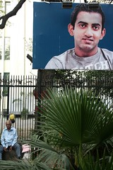 Larger Than Life (Mayank Austen Soofi) Tags: life delhi cricket hoarding than gautam larger walla gambhir
