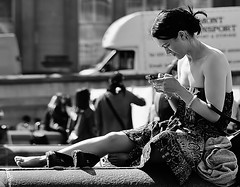 Spring In The City (jaykay72) Tags: street uk blackandwhite bw london candid streetphotography trafalgarsquare londonist stphotographia