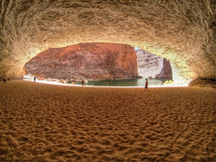 "Natural Cave in the Grand Canyon (IronRodArt - Royce Bair (""Star Shooter"")) Tags: people water river natural grandcanyon coloradoriver runners cave grandcanyonnationalpark formed redwallcavern"