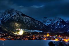 Oberstdorf at night,Germany (donBauches) Tags: schnee winter mountain snow ski night germany deutschland jumping berge oberstdorf vierschanzentournee