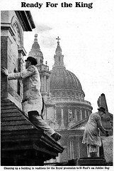 Ready For the King (1935) (pellethepoet) Tags: london architecture newspaper unitedkingdom photograph stpaulscathedral silverjubilee kinggeorgev thechildrensnewspaper