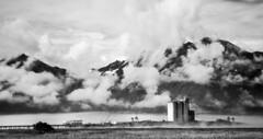 taming the mist (Salil Wadhavkar) Tags: blackandwhite mist mountain mountains alaska clouds nikon cranes valdez refinery 18105 d90 monomonday