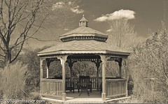 The Ole Gazebo (Jim Frazier) Tags: park wood blackandwhite bw art church nature monochrome gardens museum sepia architecture buildings garden botanical wooden illinois spring natural gardening pov interior structures craft sunny dupage gazebo structure symmetry architectural il april symmetrical botanic desaturated botanicgarden horticulture preserve botanicalgarden perpendicular centered folly q3 wheaton follies publicgarden cantigny workmanship craftmanship oldified headon millwork dupagecounty cantignypark centralperspective 2013 grandinterior ldapril jimfraziercom grandchurchinterior wmembed ld2013