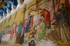 Mosaic of Christ's anointing (jkozik) Tags: church israel jerusalem baroque romanesque churchoftheholysepulchre 2013 christianquarter oldcityofjerusalem