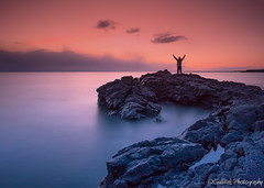 Better half of me.... (Gulli Vals) Tags: longexposure sunset sun me iceland rocks leefilters hvaleyrin